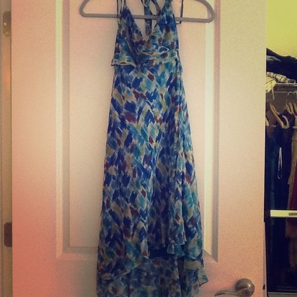 Blue Muslin Dress